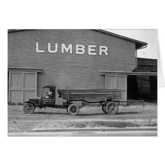 Remorque de tracteur tôt, 1925 carte