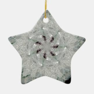 Remous blanc d'améthyste ornement étoile en céramique