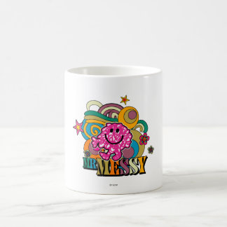 Remous colorés roses et étoiles de M. Messy   Mug