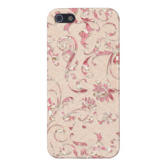 Remous floraux de relief Girly iPhone 5 Case