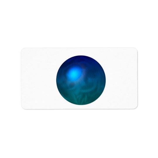 Remous graphique de réflexion en métal de boule de étiquette d'adresse