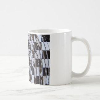 Remous noir et blanc mug