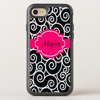 Remous noirs de roses indien coque otterbox symmetry pour iPhone 7