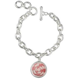 Remous rose de sucrerie bracelets avec breloques