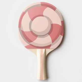 Remous rose de sucrerie raquette tennis de table