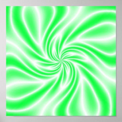 Remous vert psychédélique posters