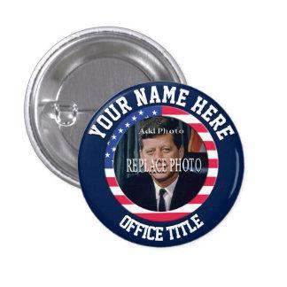 Remplacez le modèle de campagne de la photo | rond badge rond 2,50 cm