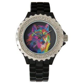 Renard coloré montres bracelet