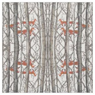 Renards dans l'art gris de tissu de concepteur en