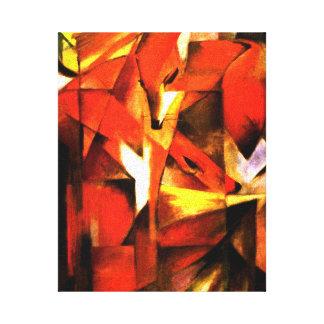 Renards par la toile de beaux-arts de Franz Marc Toiles