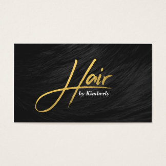 Rendez-vous chic de manuscrit d'or de coiffeur cartes de visite
