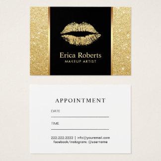 Rendez-vous de maquilleur de lèvres de cartes de visite