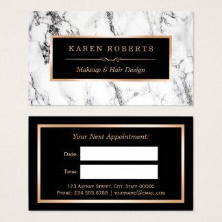 Rendez-vous de marbre blanc de raboteuse de cartes de visite