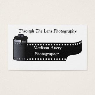 Rendez-vous de photographe de petit pain de film cartes de visite