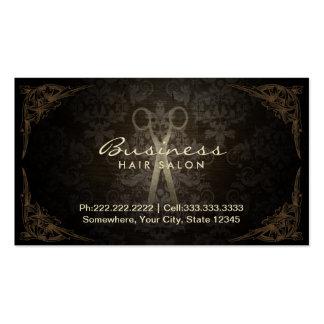 Rendez-vous de salon de coiffure de damassé carte de visite standard