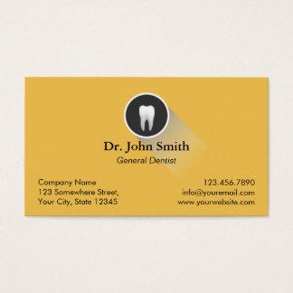 Rendez-vous dentaire de logo professionnel de dent cartes de visite