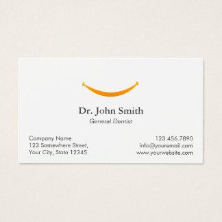 Rendez-vous dentaire de sourire simple d'or de cartes de visite