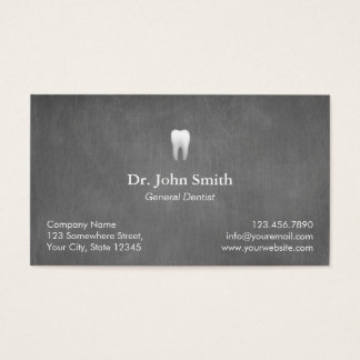 Rendez-vous dentaire de texture grise élégante cartes de visite