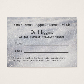Rendez-vous dentaire médical de scintillement de cartes de visite