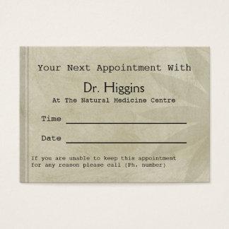 Rendez-vous dentaire médical floral professionnel cartes de visite