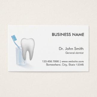Rendez-vous dentaire simple de dent et de brosse à cartes de visite