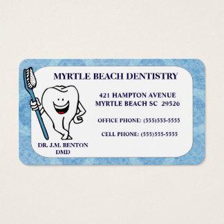 Rendez-vous et carte de visite de dentiste