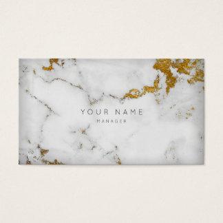 Rendez-vous gris blanc d'or du marbre VIP Cartes De Visite