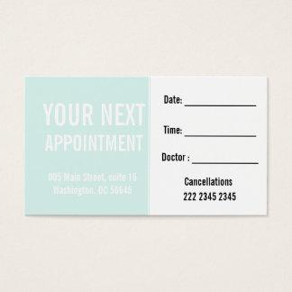 Rendez-vous minimal en bon état en pastel de cartes de visite