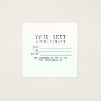 Rendez-vous moderne minimaliste sensible CRÈME EN Carte De Visite Carré