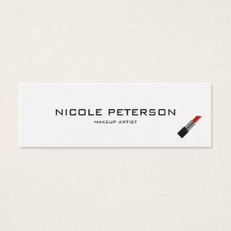 Rendez-vous moderne simple simple de maquilleur mini carte de visite