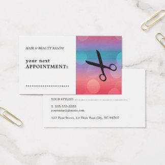Rendez-vous noir coloré moderne de cheveux de cartes de visite