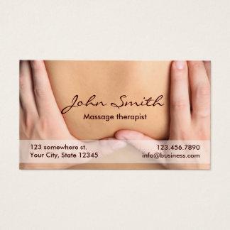 Rendez-vous professionnel de thérapeute de cartes de visite