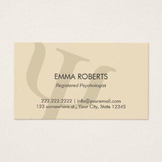 Rendez-vous professionnel simple de psychologue cartes de visite