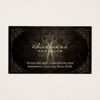 Rendez-vous vintage de salon de coiffeur de cartes de visite