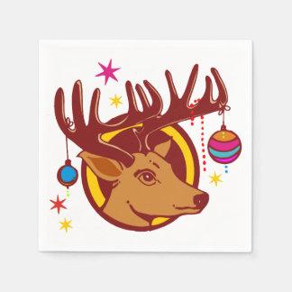 Renne/cerfs communs/Noël + votre idée Serviette En Papier