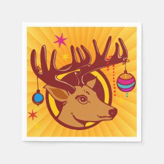 Renne/cerfs communs/Noël + votre idée Serviette Jetable