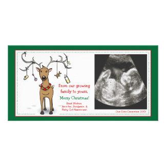 Carte Renne d'annonce de grossesse de carte de Noël