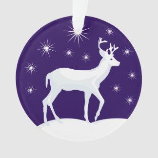 Renne de Noël d'ornement de cercle de Noël