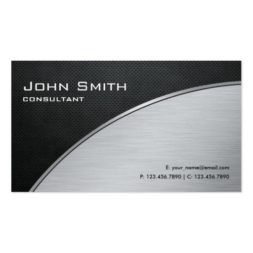 Réparation argentée moderne élégante professionnel modèles de cartes de visite