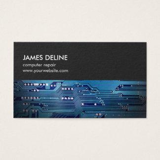 Réparation bleue grise simple d'ordinateur de bord cartes de visite