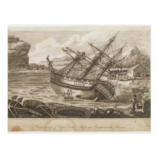 Réparation du bateau de capitaine Cooks Carte Postale