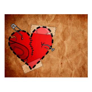 Réparation d'un coeur brisé carte postale