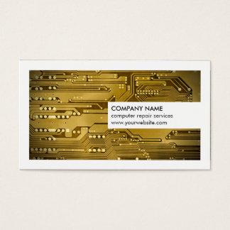 Réparation moderne d'ordinateur de bord de circuit cartes de visite