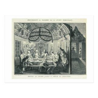Repas juif pendant le festin des tabernacles, I Carte Postale