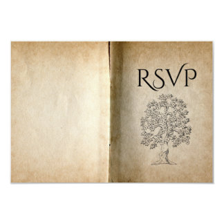 Repas RSVP de livre d'histoire Carton D'invitation 8,89 Cm X 12,70 Cm