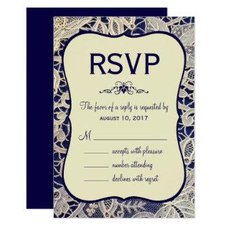 Réponse formelle ene ivoire de réponse de mariage carton d'invitation 8,89 cm x 12,70 cm