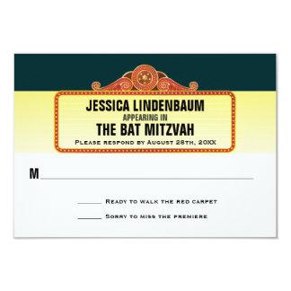 Réponse RSVP de bat mitzvah de barre de chapiteau Carton D'invitation 8,89 Cm X 12,70 Cm