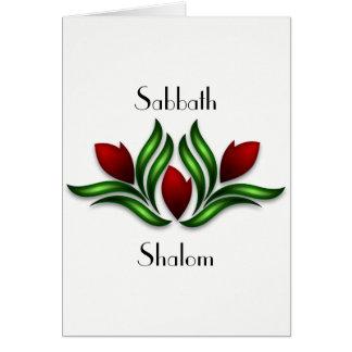 Reposez et réjouissez-vous la carte de sabbat