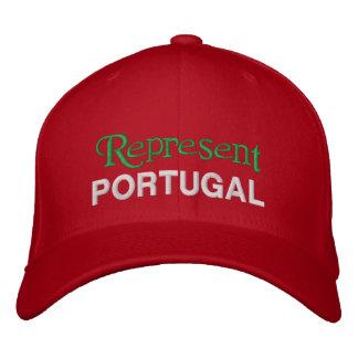 Représentez le casquette du Portugal Casquettes De Baseball Brodées