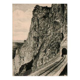 Reproduction 1920 de tunnel de Mure de voie de Carte Postale